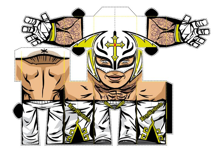rey mysterio papercraft wwe wwe kids pinterest wwe and papercraft. Black Bedroom Furniture Sets. Home Design Ideas
