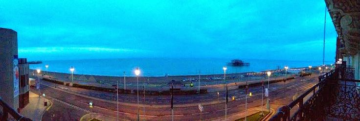 Early mornig December view from The Grand Hotel - Brighton. #view #morning #sea #december http://www.missyred.co.uk/2014/12/the-grand-hotel-brighton.html
