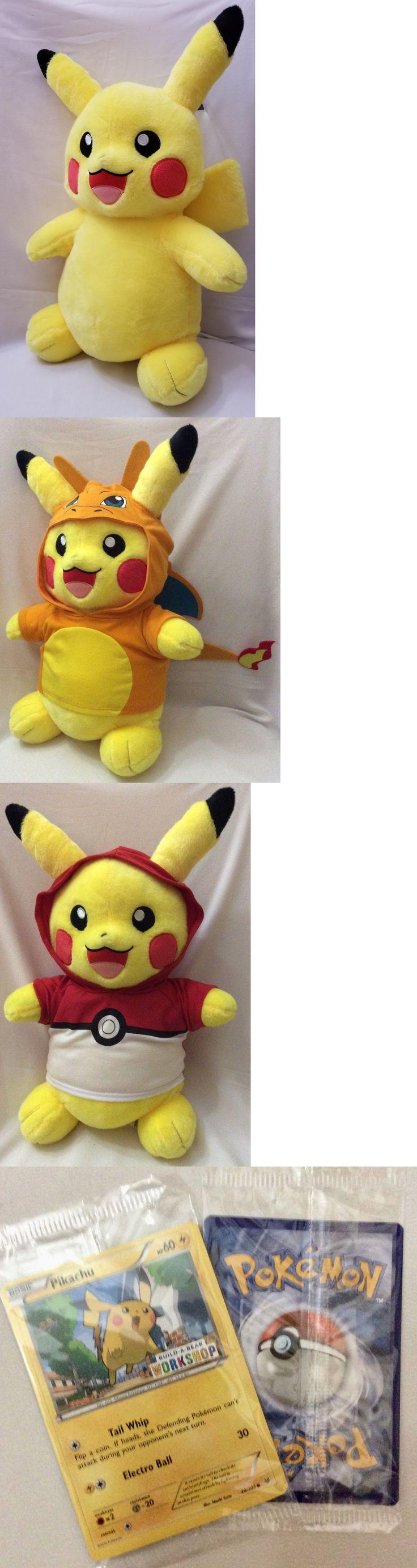 Pok mon 1524: Build A Bear Pokemon Pikachu W Sound, Babw Exclusive Pokemon Tcg Card And More! -> BUY IT NOW ONLY: $49.99 on eBay!