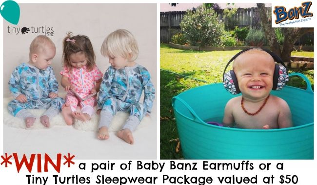 Enter to win: Banz Ear Muffs or Tiny Turtles Package | http://www.dango.co.nz/pinterestRedirect.php?u=cNZ0d2tiuLM4317