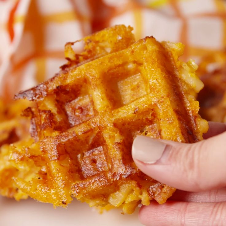 OMG! Proof that a waffle iron makes everything better. Shared by Where YoUth Rise