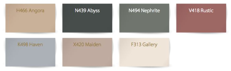 Tikkurila Color Now 2017 - paleta Hazy