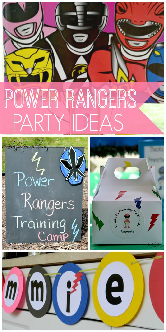 A girl Power Ranger birthday party with fun decorations and a training camp! See more party ideas at CatchMyParty.com!