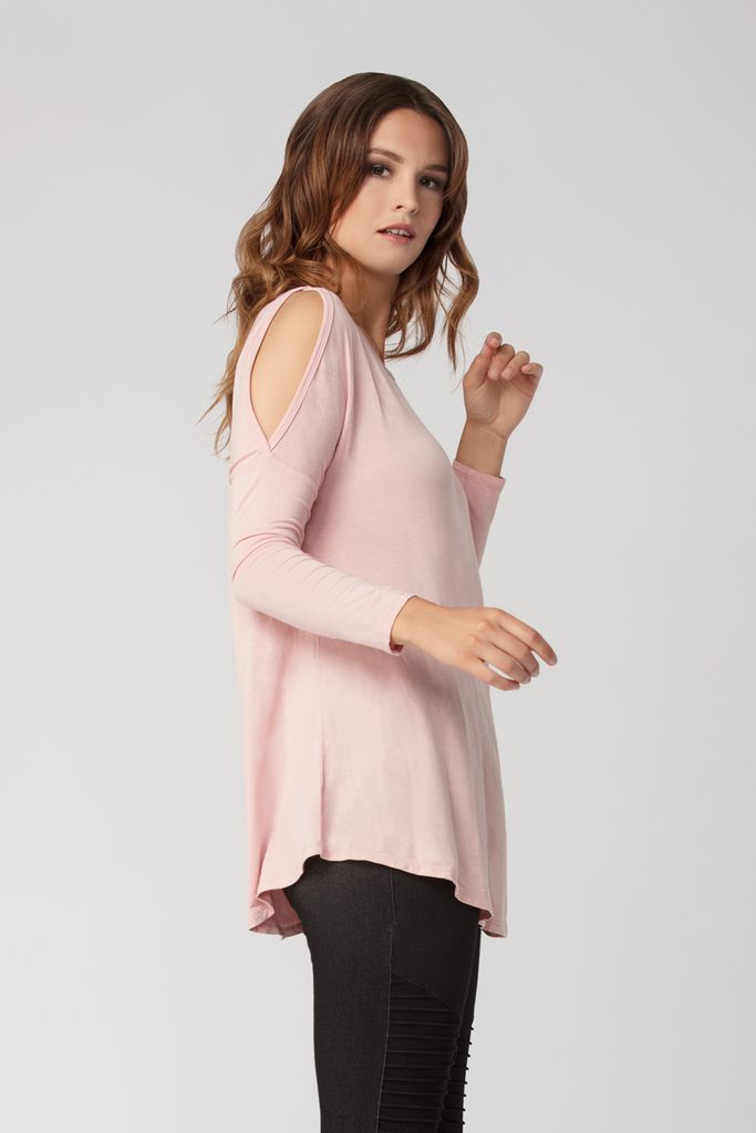 Womens Organic Bamboo Viscose Tops in Pale Rose - LNBF Sustainable Clothing Designed in Canada