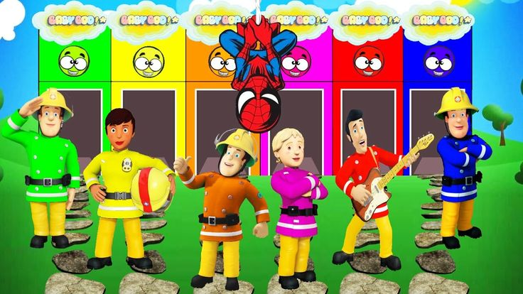 Fireman Sam English Colors For Children To Learn With Colors Sam - Colou...