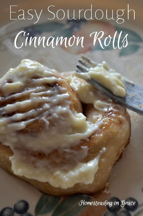 Easy Sourdough Cinnamon Rolls