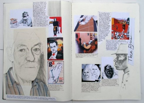 Totnes Art & Design Foundation Course - student work, the sketchbooks