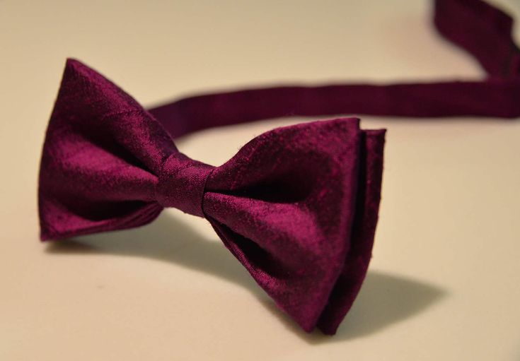 Bow Tie Magenta Bow Tie Purple Bow Tie Wedding Bow Tie Bow Tie for Men Gift for Men Gift for Dad Gift for Son Gift for Boyfriend Silk BowTie by at21boutique on Etsy