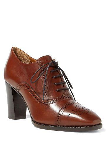 Nashira Calfskin Brogue Bootie - Ralph Lauren Boots - RalphLauren.com