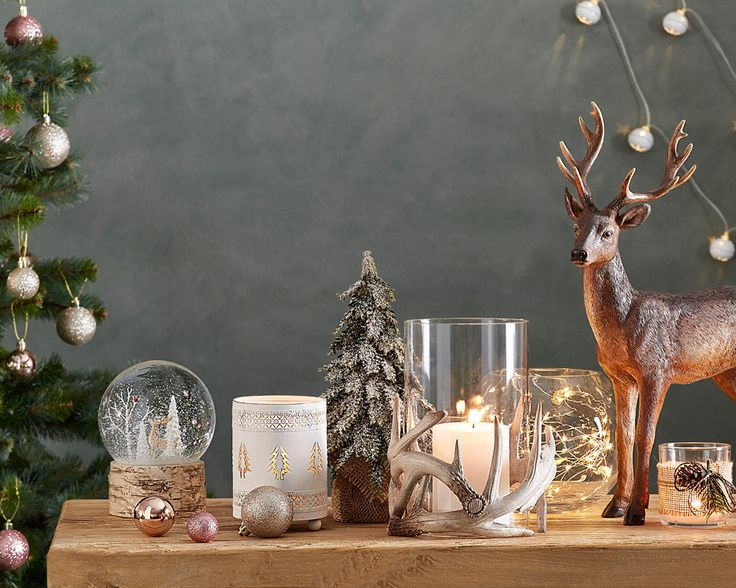 Our Woodland Christmas range features flickering candles, snow-capped trees and Nordic-inspired decorations to turn your home into a storybook wonderland this Christmas. #christmas #christmasdecorating #bedbathntable