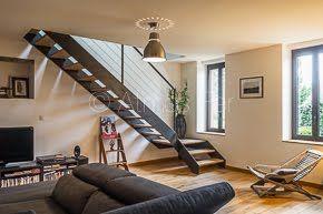 Escalier sur mesure métal et bois. Création Atmos.FER Toulouse.