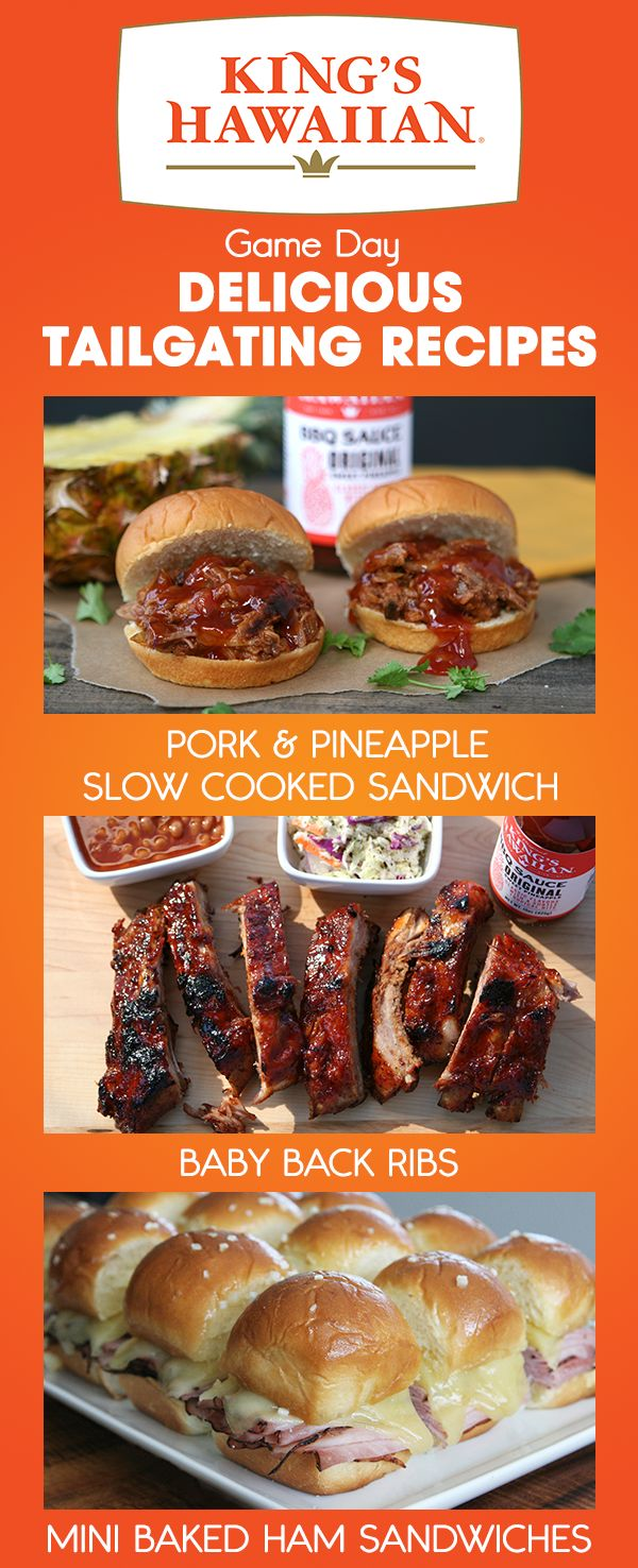 Score a touchdown with your guests this Super Bowl by serving some of these epically delicious appetizers.  From the show-stopping Pork & Pineapple Slow Cooked Sandwich to the crowd pleasing Baby Back Ribs served with deliciously zesty King's Hawaiian BBQ Sauce.  Get the recipes today.