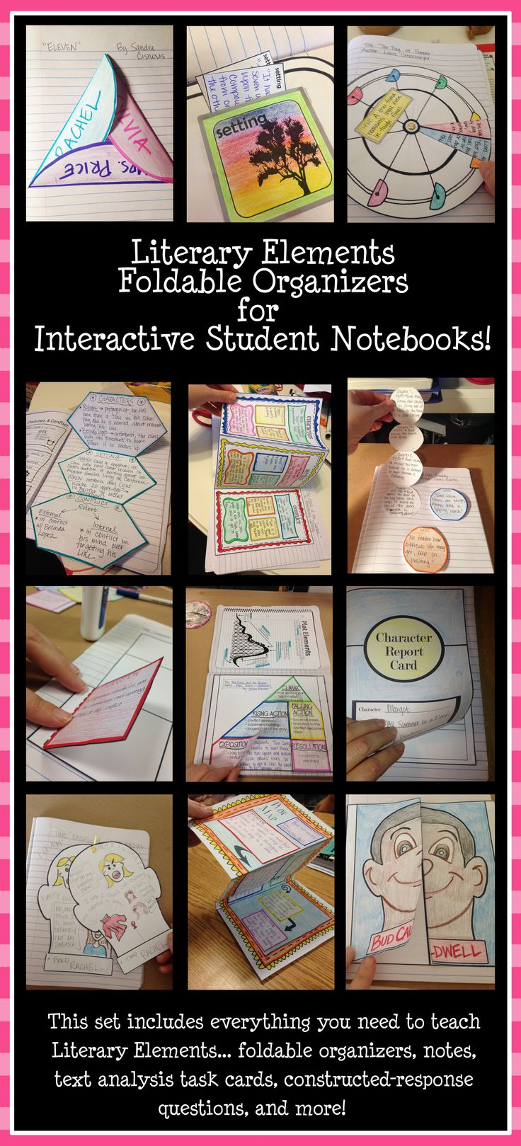 Collection of foldable organizers for interactive student notebooks!