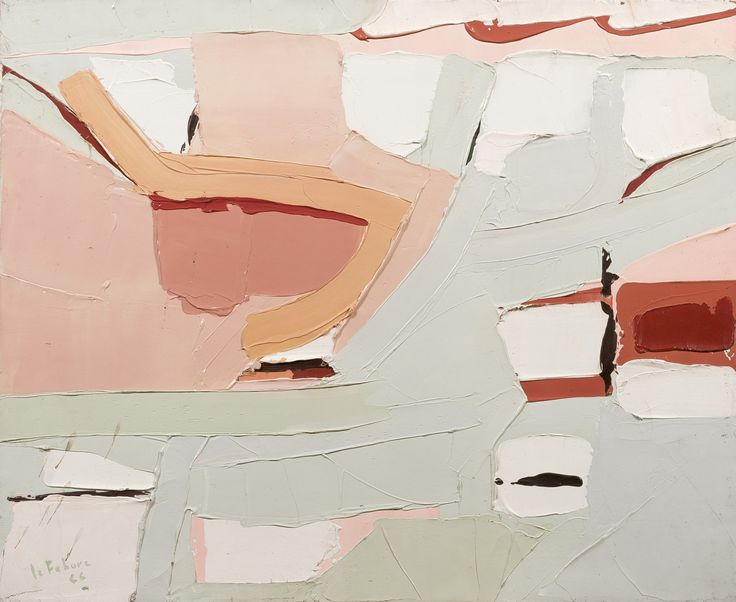 """thunderstruck9: """" Jean leFebure (Canadian, 1930-2013), Abstraction, 1966. Oil on canvas, 60 x 72 cm. """""""