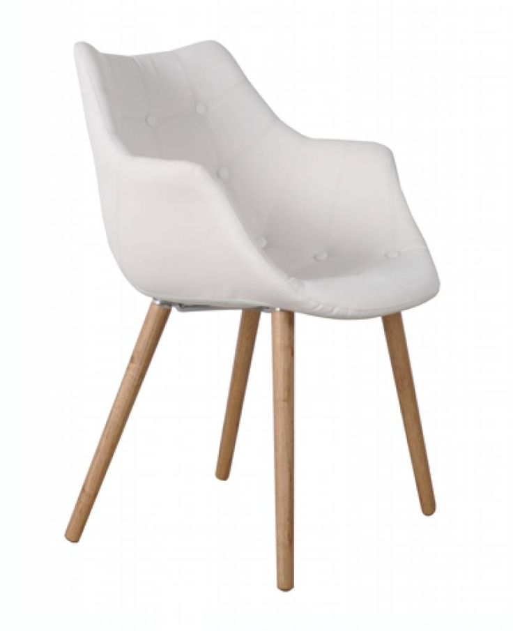 Zuiver Stoel wit kunstleer 79x58x44cm, Chair Eleven white 159