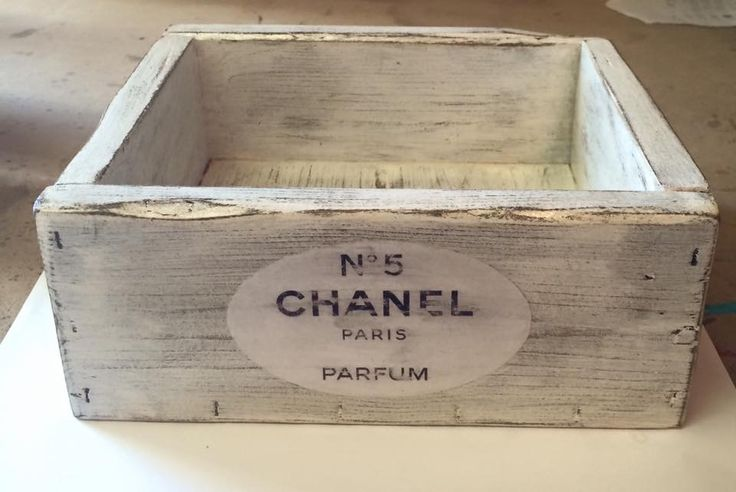 Chanel inspired handmade, solid wood perfume/makeup box. Custom made by Belle Furnishings Home Decor home based business