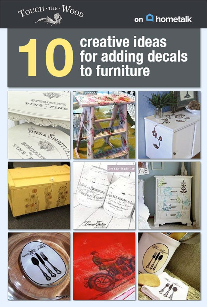How to transfer print to furniture using water decals for Furniture transfers