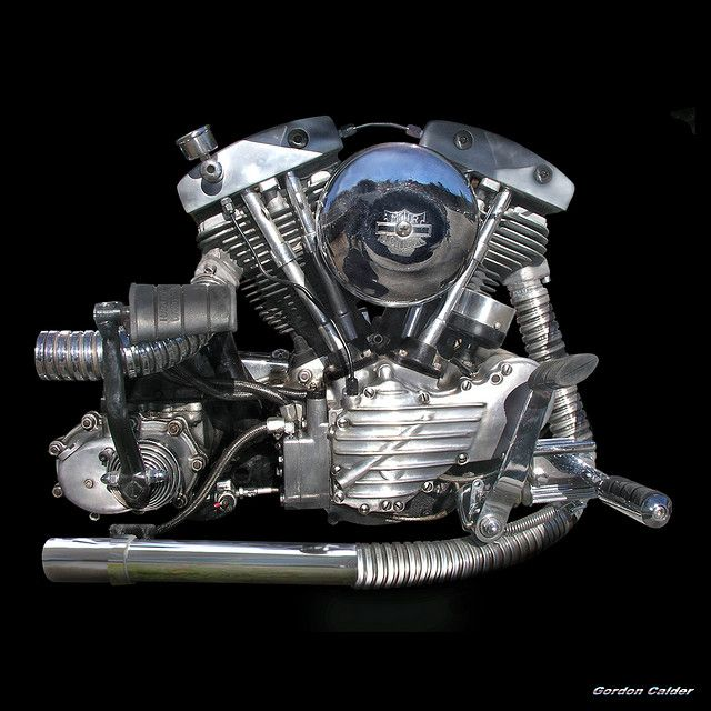 NO 12: CLASSIC HARLEY DAVIDSON SHOVELHEAD ENGINE by Gordon Calder, via Flickr