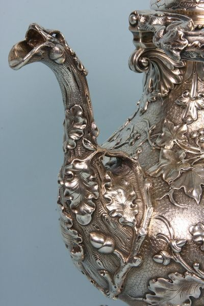 Tiffany & Co. Beautifully detailed silver serving pitcher. I wish I knew if it's a vintage piece.