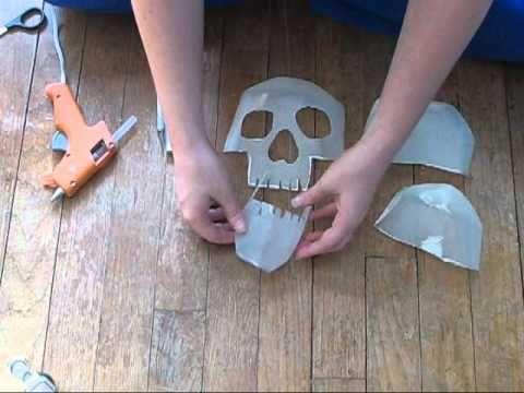 how to make a milk jug skull - YouTube
