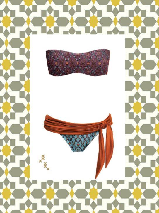 MITOS Samal bandeau in rusty orange  #mitoswimwear #bandeau #summer #beach #sea #mitos #moroccan