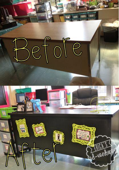 Classroom Paint Decor ~ Desk makeover new teachers pinterest design