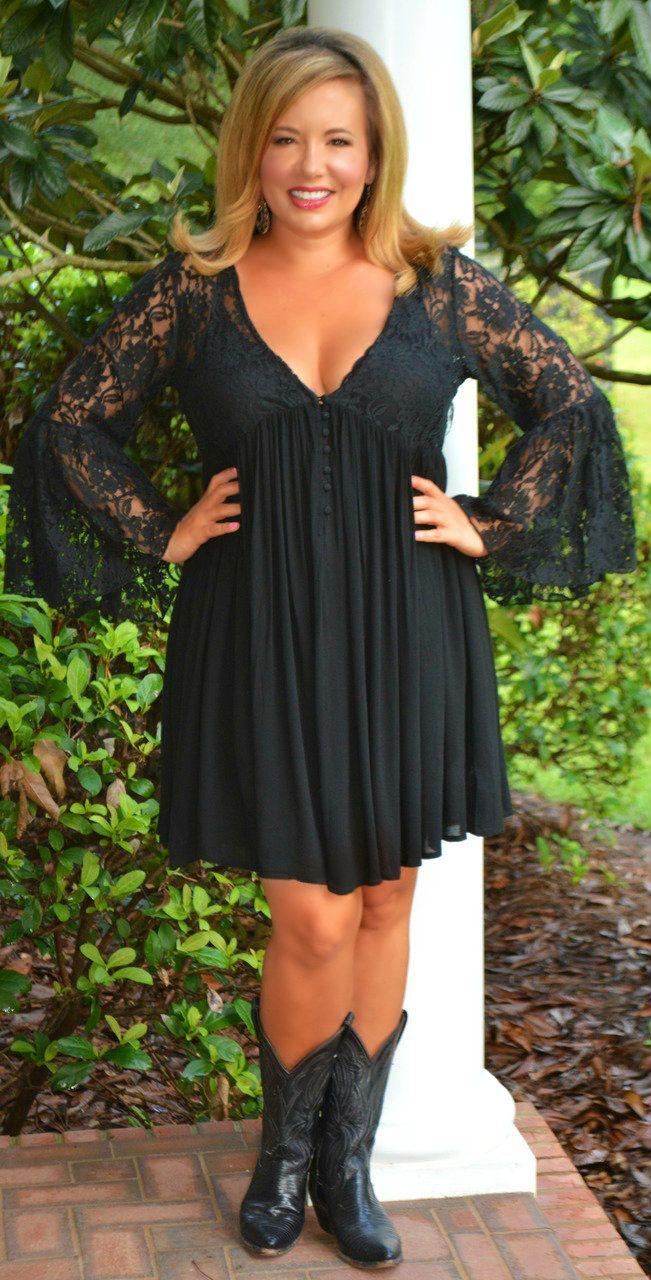 Perfectly Priscilla Boutique - Urban Cowgirl Dress  -  Black, $53.00 (http://www.perfectlypriscilla.com/urban-cowgirl-dress-black/)