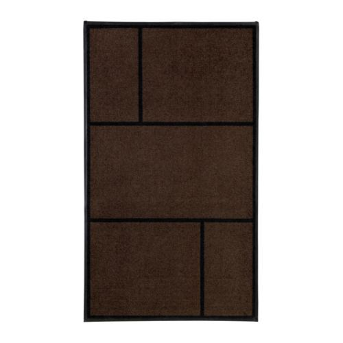 KÖGE Door mat IKEA Easy to keep clean - just vacuum, shake or rinse. Stays firmly in place since it has rubber on the underside.