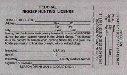 Federal nigger hunting license a moment in time for State of alaska fishing license