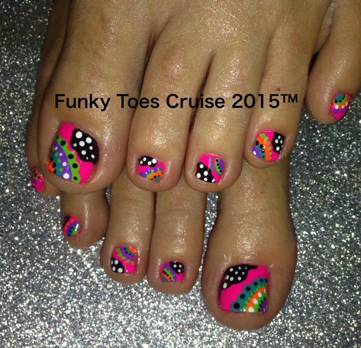 Neon Nail Designs For Toes: Neon nail art for toes galleryhip the ...