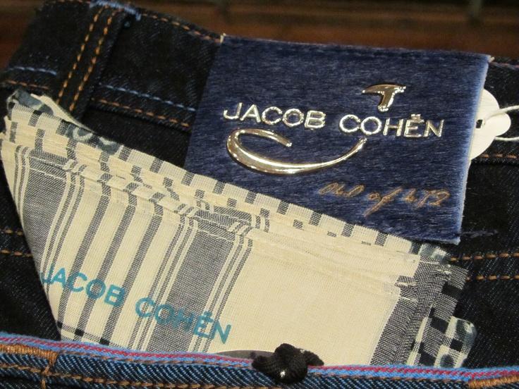 Jacob Cohën Limited Jeans - Silver Plated Back Label #JacobCohen #TailoredJeans #Denim #LimitedEdition