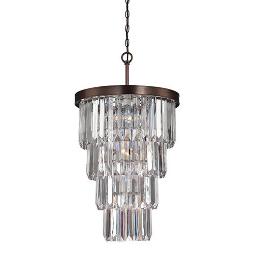 Tierney Bronze Seven-Light Entry Chandelier