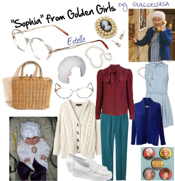 """""Sophia"" from Golden Girls Costume"" by iloveglasses on Polyvore"