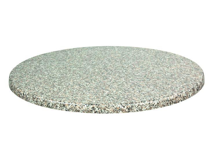 Tischplatte rund 80cm Granit 067