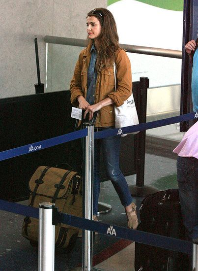 Keri Russel with Filson Carry on