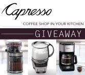 Capresso Coffee Maker, Grinder and Milk Frother Giveaway Open to: United States  Ending on: 06/29/2015