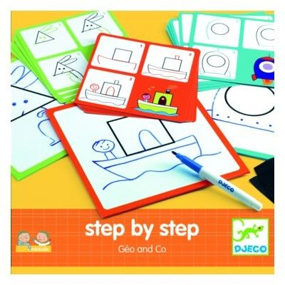 Tegn - Step by step - Geo and Co - Djeco