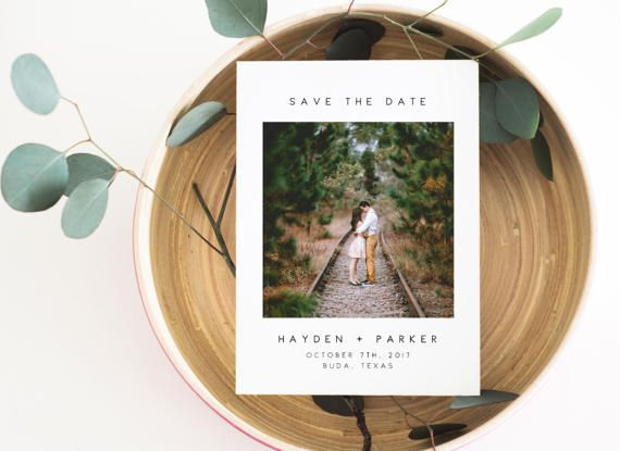Photo Save the Date, Save the Date Printable, Modern Save the Date, Save the Date Card, Save the Date Template, Photo Announcement. Engaged -------------------------------------------------------- This 5 x 7 modern photo save the date template is a printable hi-resolution digital file for you to print yourself at home or a print shop. If youd like to modify something such as the font color or size of this item, please also purchase the listing at the link below in addition to this listing…