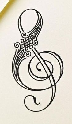 Treble clef tattoo but incorporate hearts