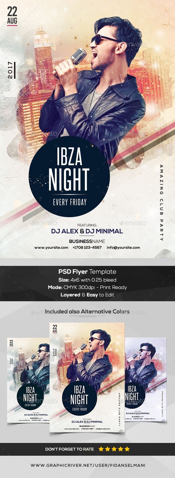 Ibza Night - PSD Flyer Template