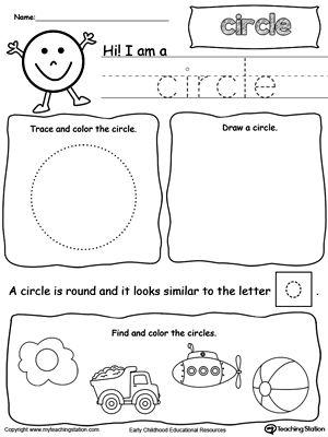 all about circle shapes shapes worksheets math. Black Bedroom Furniture Sets. Home Design Ideas