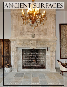 Antique Stone Fireplaces - mediterranean - fireplaces - new york - Ancient Surfaces