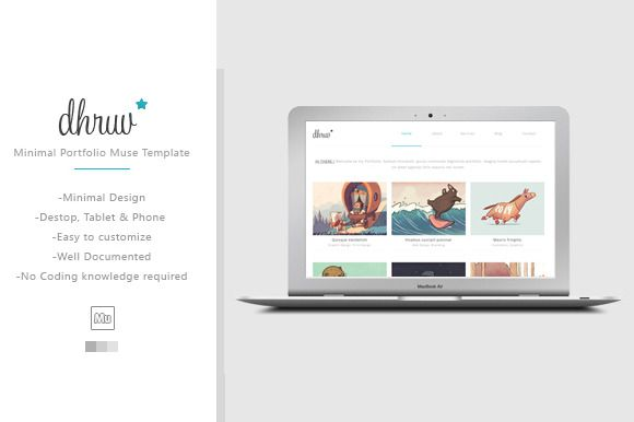 Check out Dhruv - Minimal Muse/HTML Template by WellMadePixel on Creative Market
