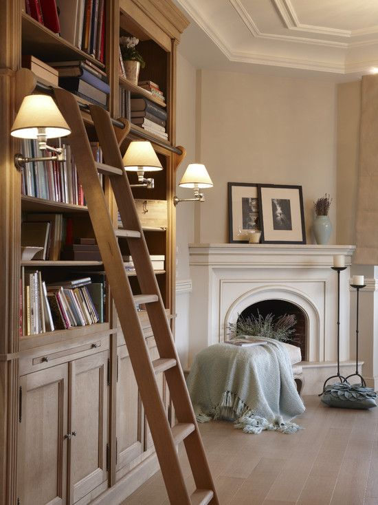 one can never have too many books… add a cozy fire and it's pretty much divine.