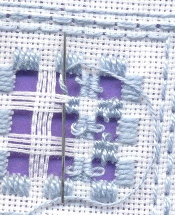 Hardanger embroidery tutorial, drawn thread, Kloster, crosstitch