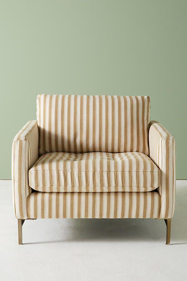 Modern striped armchair on Thou Swell @thouswellblog