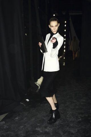 Backstage at the FW14 runway show via Vogue.com