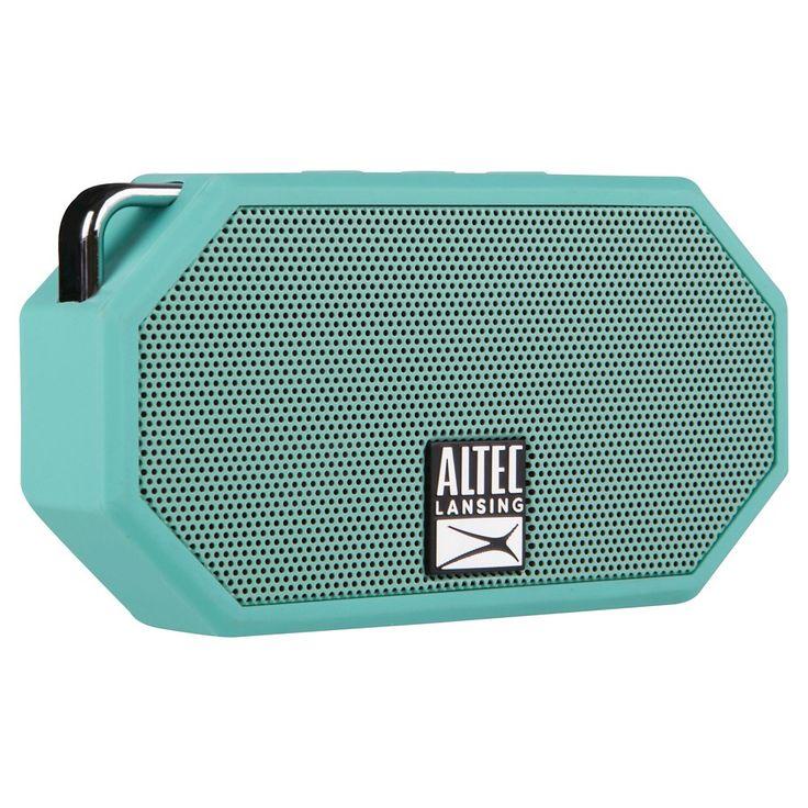 Altec Mini H2O Bluetooth Waterproof Speaker Mint, Mint Green