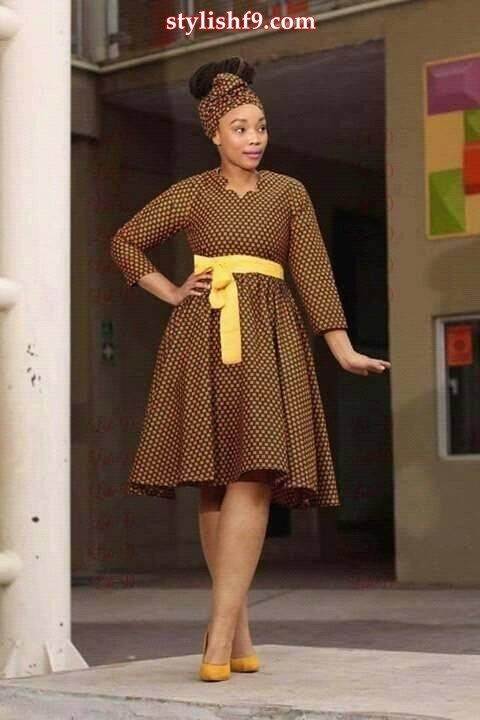 efd28ff34 Shweshwe Dresses 2019 Recent and Unique • stylish f9 | South African ...