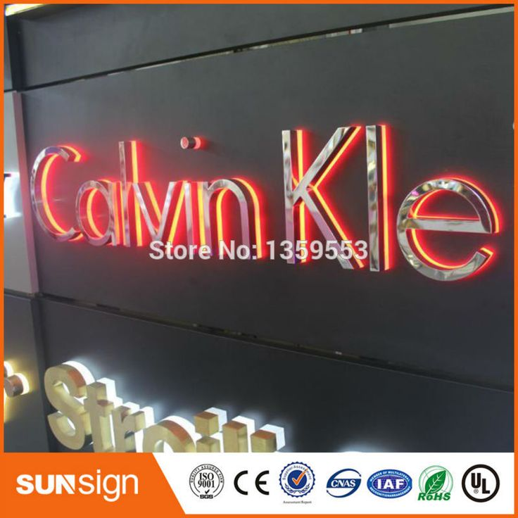 Marvelous wholesale store lighting letters sign store front sign LED light up sign in Electronic Signs
